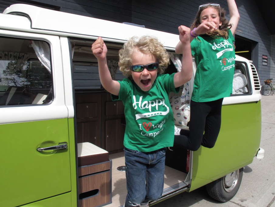 Take to the road in a 1970s VW campervan